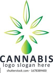 Cannabis Hemp Logo Vector Design