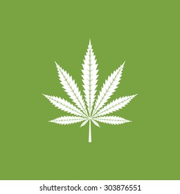 Cannabis leaf icon - Vector