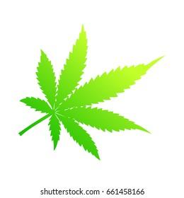 Cannabis Leaf. Indica. Warm color.