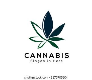 cannabis leaf logo design