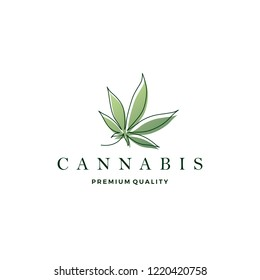 cannabis leaf logo vector icon