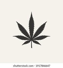 Cannabis leaf vector icon. Marijuana legalize symbol. Medicine cannabis sign, herbal nature organic plant. Hash, ganja cbd rasta indica sativa logo. Flat design isolated on white background.
