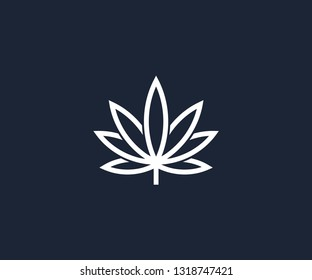cannabis logo design template