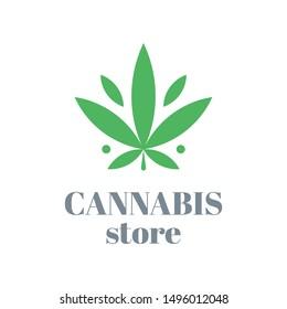 Cannabis logo or icon design. Vector