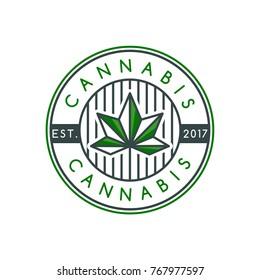 Cannabis logo template, abstract cannabis vector illustration