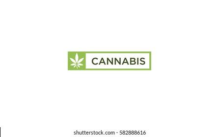 cannabis logo vector logo
