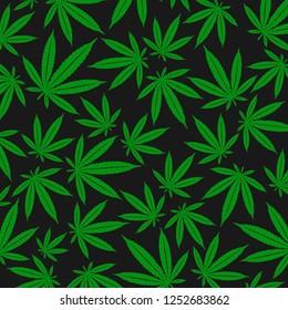 Cannabis, marijuana background. Vector