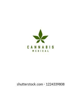 cannabis marijuana logo icon medical