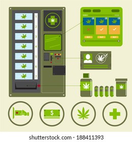 cannabis or marijuana medicinal. Vending machine.
