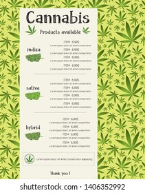 Cannabis product for sale template vector font outlined  Skrawk Serif