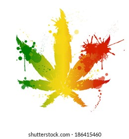 Cannabis reggae vector
