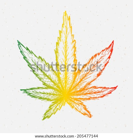 Cannabis reggae vector