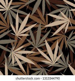 cannabis seamless pattern, textile fashion, Independence, camouflage background vector illustration
