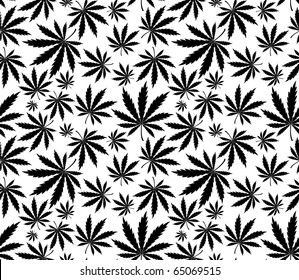 cannabis seamless pattern in vector format