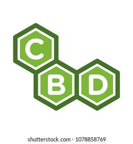 cannabis vector logo. CBD icon.