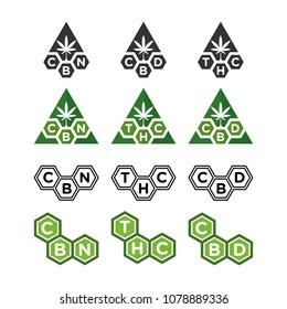 cannabis vector logo. cbd and thc.