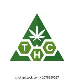 cannabis vector logo. thc logo.
