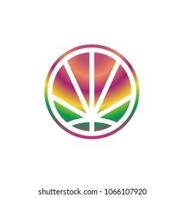 CannaPeace logo icon vector template