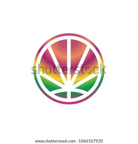 CannaPeace logo icon vector