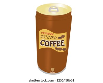 Canned coffee illustration