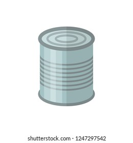 canned food flat vector icon