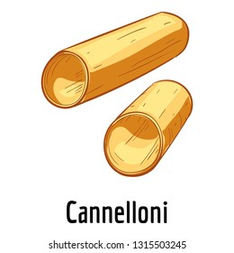 Cannelloni icon. Cartoon of cannelloni vector icon for web design isolated on white background
