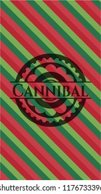 Cannibal christmas colors emblem.