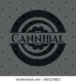 Cannibal dark emblem. Vector Illustration. Detailed.