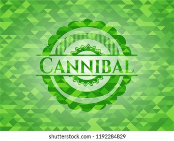 Cannibal green mosaic emblem
