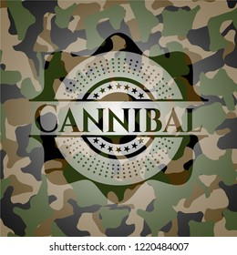 Cannibal on camouflage pattern