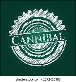 Cannibal on chalkboard