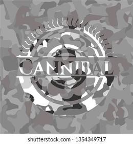 Cannibal on grey camo pattern