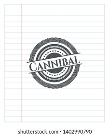 Cannibal pencil effect. Vector Illustration. Detailed.