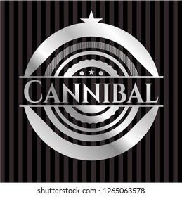 Cannibal silvery shiny badge