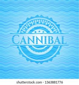Cannibal water representation emblem.