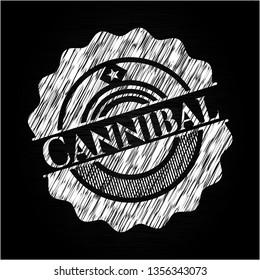 Cannibal written on a blackboard