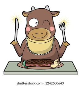 cannibalism - cow - Smile type