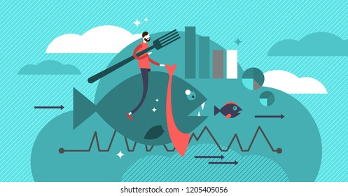 Cannibalization strategy vector illustration. Company marketing basics to grow market share. Launch new product that negatively affects older one. Effective sales profit.