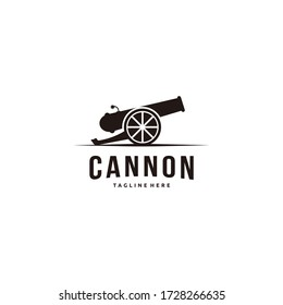 Cannon with ball icon vector isolated on white background for your web and mobile app design, Cannon logo concept