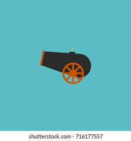 Cannon Icon Flat Element. Vector Illustration Of Flat Cannon Icon Artillery Isolated On Clean Background.