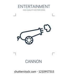 cannon icon. high quality line cannon icon on white background. from entertainment collection flat trendy vector cannon symbol. use for web and mobile