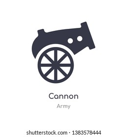 cannon icon. isolated cannon icon vector illustration from army collection. editable sing symbol can be use for web site and mobile app
