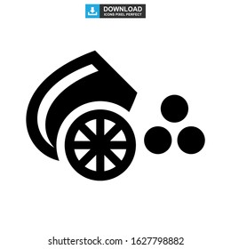 cannon icon or logo isolated sign symbol vector illustration - high quality black style vector icons