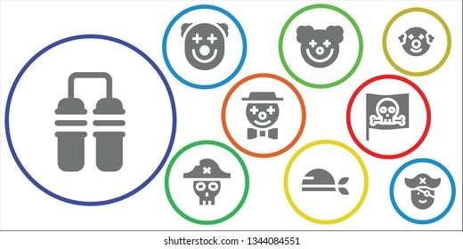 cannon icon set. 9 filled cannon icons.  Simple modern icons about  - Nunchaku, Clown, Pirate