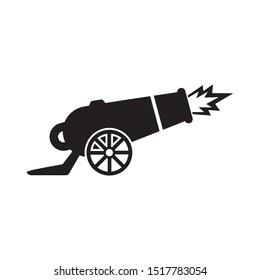 Cannon icon vector. Cannon logo illustration. Simple design on white background.