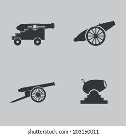 Cannon icons set