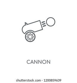 Cannon linear icon. Cannon concept stroke symbol design. Thin graphic elements vector illustration, outline pattern on a white background, eps 10.