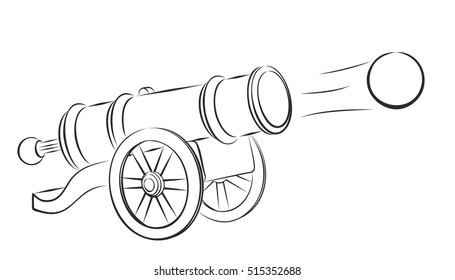Cannon and nucleus.