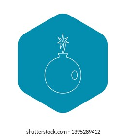 Cannonball icon. Outline illustration of cannonball vector icon for web