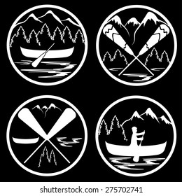 canoe camp vintage labels set